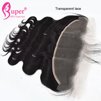 Raw Virgin Human 13x4 Transparent Lace Frontal Closure Sample Acceptable Pervian Most Popular Hair Weave Extensions