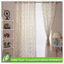 Best selling Polyester with tassel voile hot foil brand name curtain