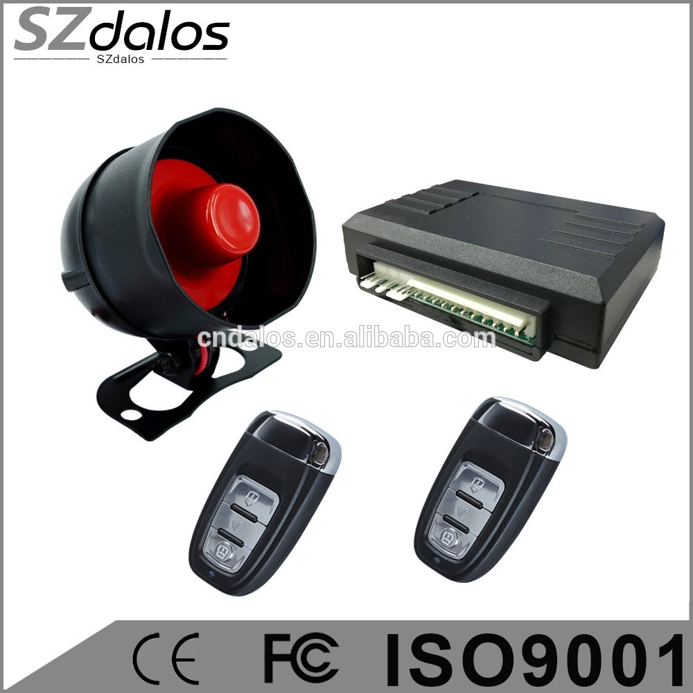 OEM factory rolling/learning/hopping code car alarm system with relay, anti-hijack button one way car alarm system hot in Kenya