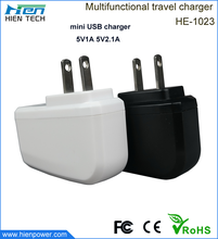 Wholesale 5V1A/2A USB power charger for mobile phone/tablet PC/camera/mp3/mp4/watch/psp etc