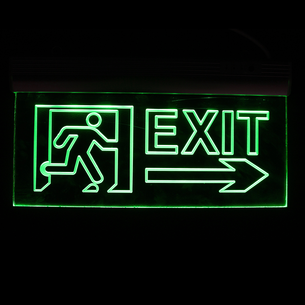 Led Acrylic Emergency Light Exit Sign With 3 Hours Emergency Time ...