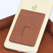 Card Holder for Phone, leather Phone Card Holder Attach to the Back of Smart Phone
