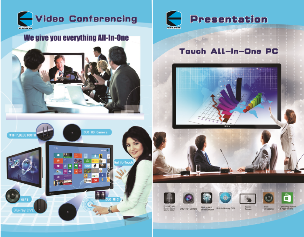 EKAA 55inch All in one Touch LED Screen smart board for presentation