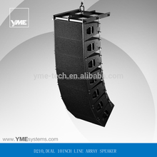 D210 DB loud speaker q1 2 way passive dual 10 inch speakers for event