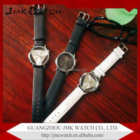 Korean version fashion students hollow quartz watch and lovers electronics wrist genuine leather watch