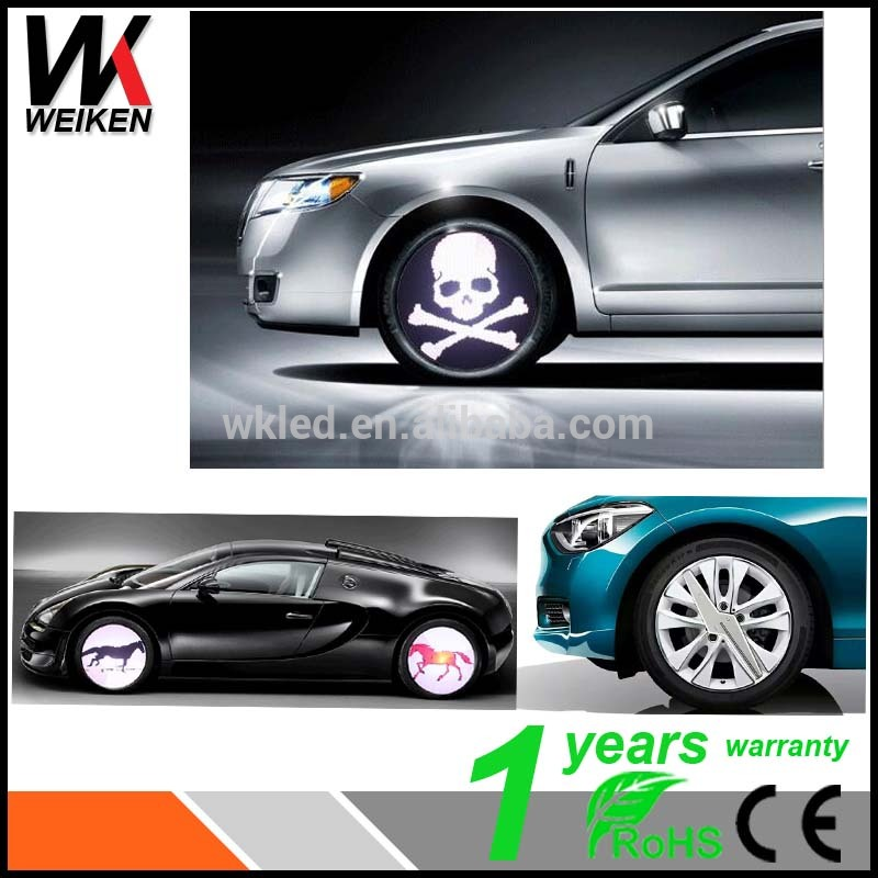WEIKEN Colorful Programmable Wheel Lights For Car Fashion And Beautiful Car Programmable LED Wheel lights