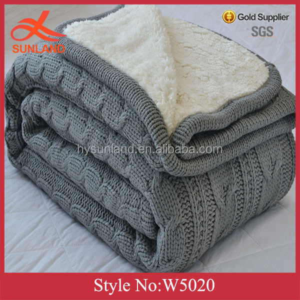 W5020 New fashion chunky knit throw blanket heated blanket wholesale china blankets