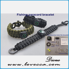 New Arrival !!! Emergency disaster survival paracord bracelet kit, survival multi tool