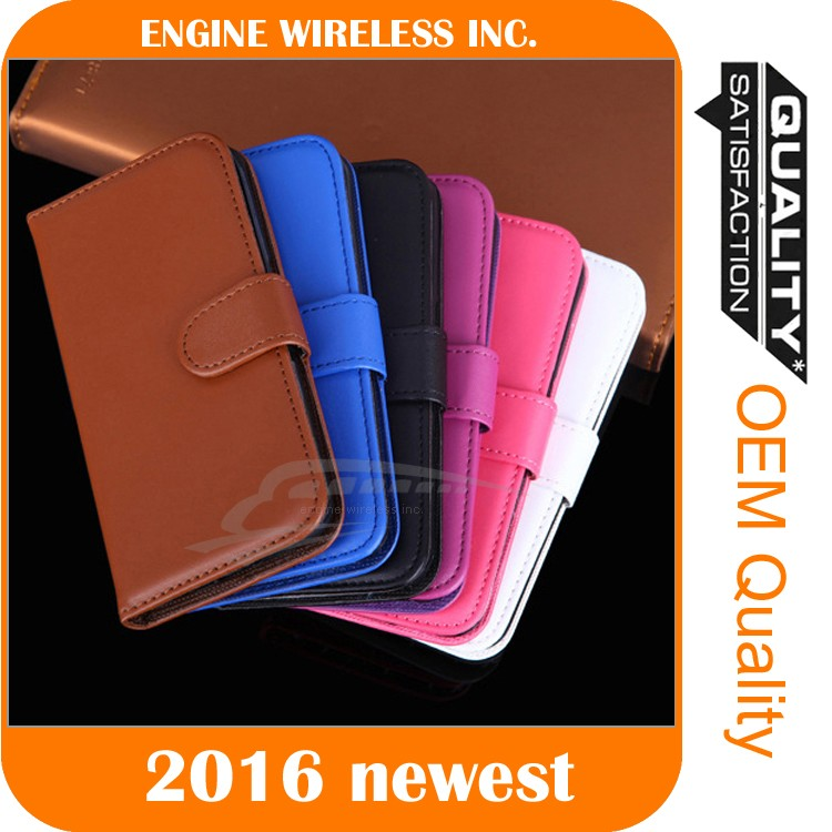 Flip Mobile Wallet PU Leather Case Cover Stand For htc one m7 case
