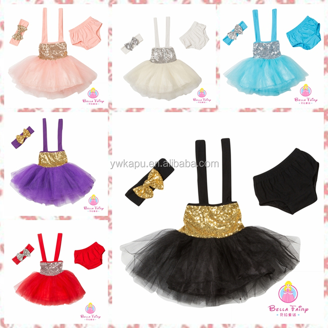 2018 trend fashion boutique clothing high quality new design cute little princess sequin tutu skirt with bloomer