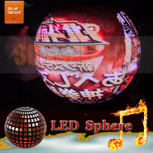 Eye-catching 360 degree Sunrise sphere led display led video 3D display p6mmp5mmp4mm with high definition
