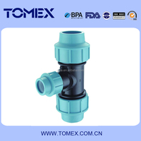 tee pp compression fittings plastic pipe product s best price