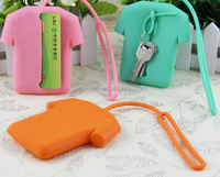 Waterproof hot sale shirt shape silicone card case key bag key wallet key holder