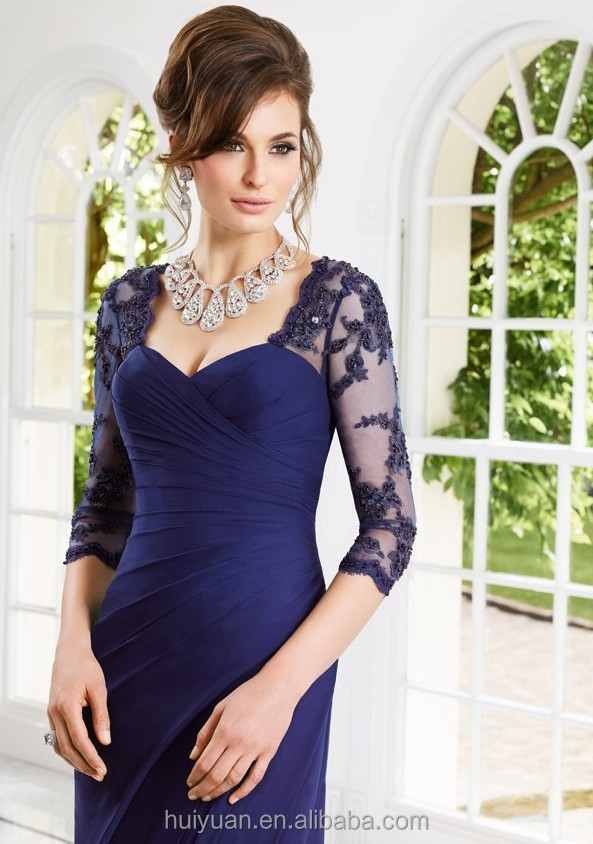 2015 Sexy Long Sleeve Lace Formal Gown
