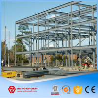 Light Welding Frame Steel Structure Design Prefab Buildings Workshop Car Garage Fast Building Construction