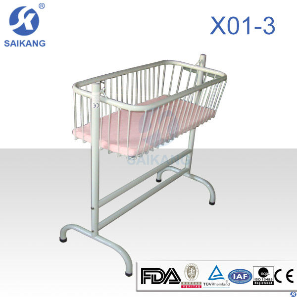 Saikang Hot sale X01-3 Economical Powder Coated Steel Baby Doll Crib Cot