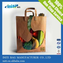 High Quality Cheap Brown Kraft Food Packaging Paper Bags With Window