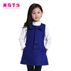 2014 kids clothes wholesale china fashion trendy western 10 year olds baby girl wool dresses