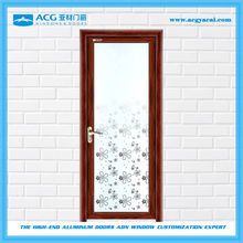 Aluminum glass door surface treatment for fluorocarbon