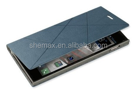 Elegant Side Flip Leather Protective Case Cover Shell with card pocket and stand function for LENOVO K900