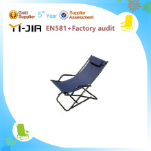 Wonderful folding beach chair with head pillow/cheap folding director chairs/foldable sun loungers for sale
