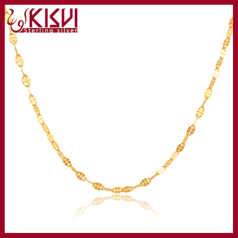 silver fashion jewelry14k gold chain necklace design factory with high quality