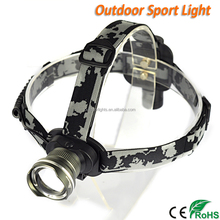 CREE XML T6 Zoom Ajustable Rechargeable Headlamp LED for Camping