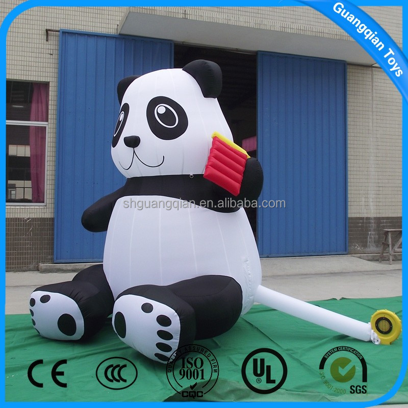 Guangqian Advertising Inflatable Panda Outdoor Inflatable Animal Cartoon