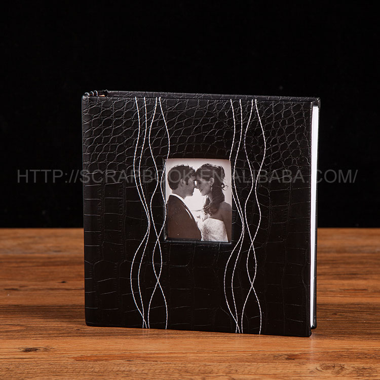 PU leather cover photo albums 200 photos wedding photo album