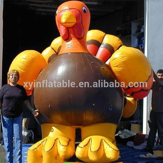 Inflatable model advertisement,Inflatable cartoon advertising product,inflatable yellow chicken model for advertising