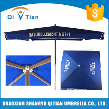 China durable blue big outdoor garden umbrella