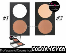 Wholesale double Colors Makeup Bronzer contour face powder Palettes makeup foundation