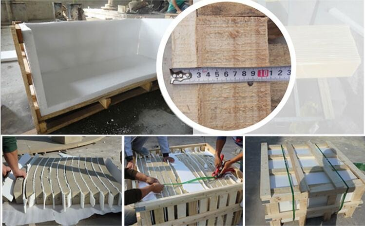 Hot Selling Customized Fireplace Surround White Marble Fireplace Mantel