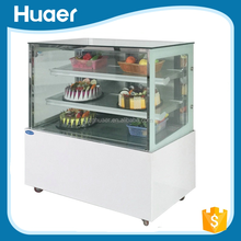 Valuable price Mini cake display cooler Right angle bakery refrigerator cake display showcase