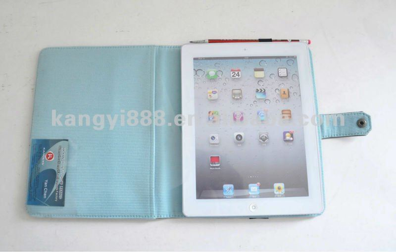 New design multicolor PU leather case for Ipad 2 and Ipad 3