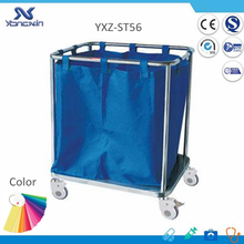 304 Stainless Steel and Nylon Bag, Medical Garbage Collecting Trolley