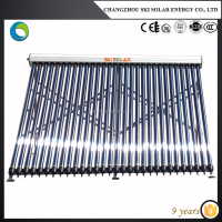 solar heating collector system for swimming pool facility