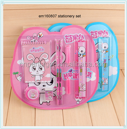 Cheap school fashion stationary set for kids usage