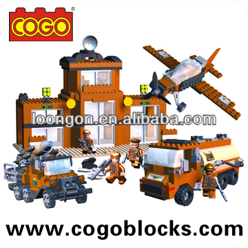 COGO plastic block set Military series kids toys