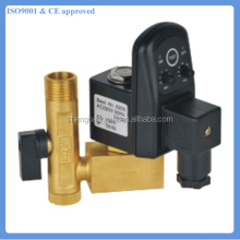 "1/2"" automatic electronic timed auto drain valve for air compressor condensate"