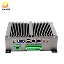 Fanless Barebone Mini PC Core Rugged ITX Case Embedded Industrial Computer 2 LAN