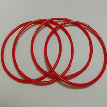 Small red colored silicone rubber o rings
