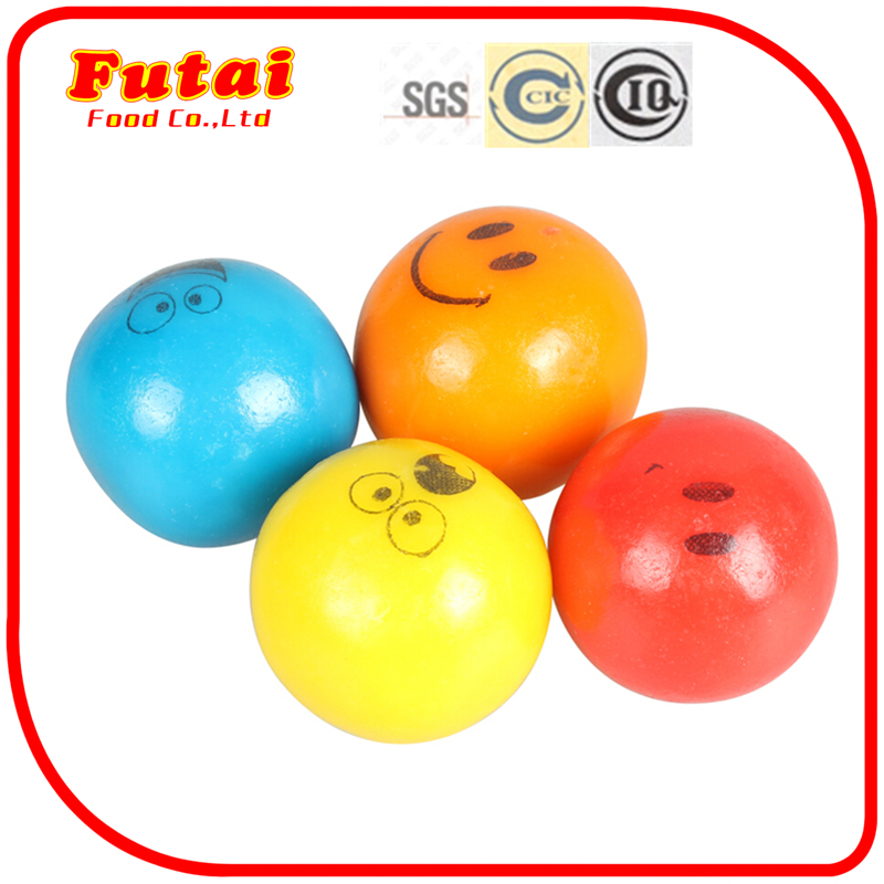 9g Bagged smiling face tattoo colorful ball gum