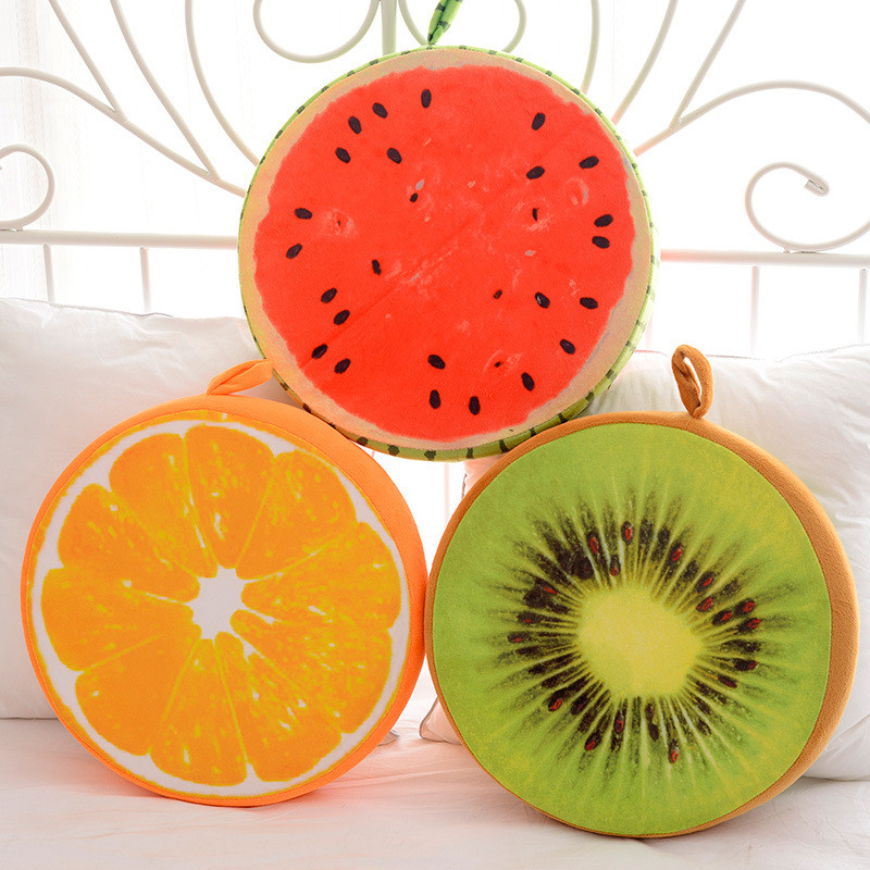 2017 Fashion Round Fruit Shaped Cushion Pillow Home Chair Sofa Car Seat Cushion