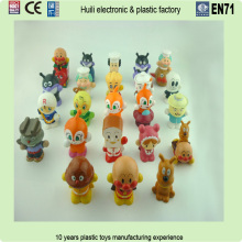 5cm custom plastic vinyl finger puppets for story, cartoon plastic finger puppets mini figures vinyl toys
