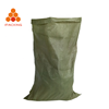 25kg 50kg recyclable tubular fabric green color pp trash plastic finishing woven bag for pack construct garbage