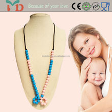 Fashion silicone teething necklace children jewelry