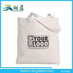 recyclable foldable cotton canvas tote bag, plain tote bag cotton for shopping