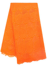 Hot-selling orange london lace fabric