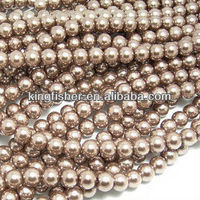 Round shape jewelry glass pearls, Wholesales jewelry glass pearls beads for decorations